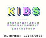 kids cool alphabet modern... | Shutterstock .eps vector #1114570598