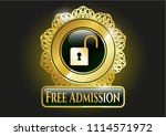 golden emblem or badge with... | Shutterstock .eps vector #1114571972