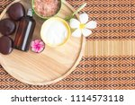 spa treatment equipments... | Shutterstock . vector #1114573118