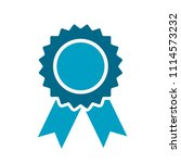 award ribbon icon on white ... | Shutterstock .eps vector #1114573232