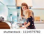 family  children  hapiness and...   Shutterstock . vector #1114575782