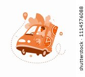 vector illustration of a pizza...   Shutterstock .eps vector #1114576088