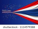 vector flag of thailand banner...   Shutterstock .eps vector #1114579388