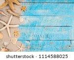 summer traveling time. sea... | Shutterstock . vector #1114588025