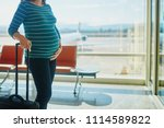 pregnant woman at second... | Shutterstock . vector #1114589822