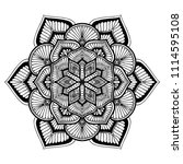 mandalas for coloring  book.... | Shutterstock .eps vector #1114595108