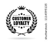 customer loyalty vector icon... | Shutterstock .eps vector #1114595135