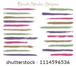grunge ink brush stroke stripes ... | Shutterstock .eps vector #1114596536