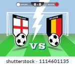 vector illustration of soccer... | Shutterstock .eps vector #1114601135