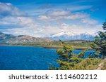 carretera austral  patagonia  ... | Shutterstock . vector #1114602212