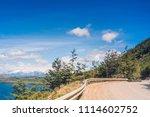 carretera austral  patagonia  ... | Shutterstock . vector #1114602752