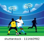 soccer game | Shutterstock .eps vector #111460982
