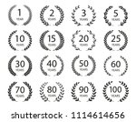 set of anniversary laurel... | Shutterstock .eps vector #1114614656