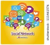 i love social network | Shutterstock .eps vector #111461576