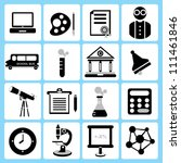 school and education icon set | Shutterstock .eps vector #111461846
