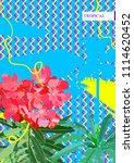 sweet  nerium  oleander flower... | Shutterstock .eps vector #1114620452