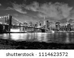 new york city  financial... | Shutterstock . vector #1114623572