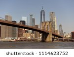 new york cityscape. new york... | Shutterstock . vector #1114623752