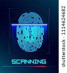 finger print scanning... | Shutterstock .eps vector #1114624682