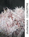 pile of shredded documentary... | Shutterstock . vector #1114629746