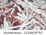 pile of shredded documentary... | Shutterstock . vector #1114629752