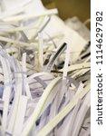 pile of shredded documentary... | Shutterstock . vector #1114629782