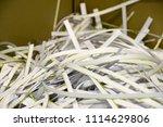 pile of shredded documentary... | Shutterstock . vector #1114629806