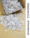 pile of shredded documentary... | Shutterstock . vector #1114629836