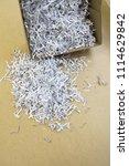 pile of shredded documentary... | Shutterstock . vector #1114629842