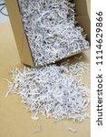 pile of shredded documentary... | Shutterstock . vector #1114629866