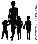 mother with children | Shutterstock .eps vector #1114630562