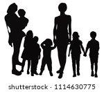 mother with children | Shutterstock .eps vector #1114630775