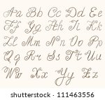 handwritten abc | Shutterstock .eps vector #111463556