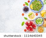 top view of middle eastern or... | Shutterstock . vector #1114640345