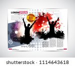 music magazine  brochure layout ... | Shutterstock .eps vector #1114643618