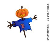 lamp of jack  jack o' lantern ... | Shutterstock .eps vector #1114649066