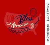 god bless america. greeting... | Shutterstock .eps vector #1114649492