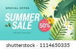 summer sale. vector... | Shutterstock .eps vector #1114650335