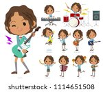 a set of school girl playing... | Shutterstock .eps vector #1114651508
