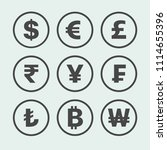 currency exchange sign icons.... | Shutterstock .eps vector #1114655396