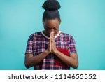 close up portrait of faithful... | Shutterstock . vector #1114655552