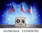 american independence day 4th... | Shutterstock . vector #1114656782