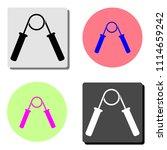 hand grip expander trainer....   Shutterstock .eps vector #1114659242