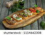 delicious italian antipasti... | Shutterstock . vector #1114662308