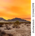 sonora desert sunset in central ... | Shutterstock . vector #1114662398