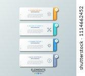 four separate paper white...   Shutterstock .eps vector #1114662452