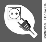 vector icon sockets and plugs.  ... | Shutterstock .eps vector #1114662746