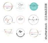 logo circle beauty shop  | Shutterstock .eps vector #1114663208