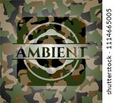 ambient camo emblem | Shutterstock .eps vector #1114665005