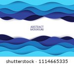 paper art cartoon abstract... | Shutterstock .eps vector #1114665335